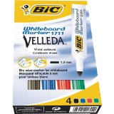 BIC Velleda Pack de 4 Feutres effa�able � sec Couleurs Assorties